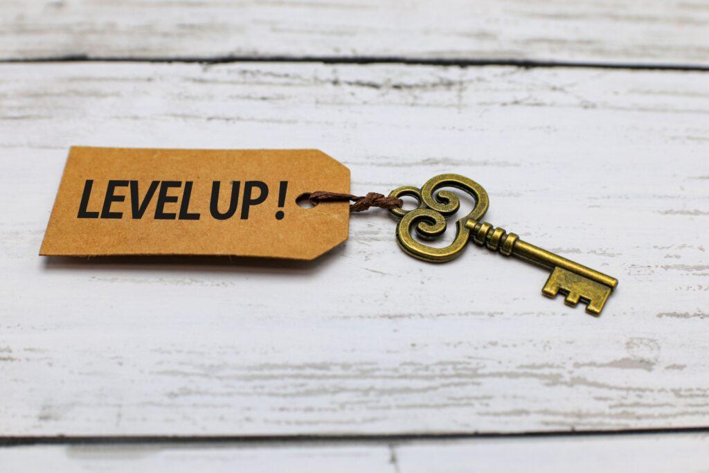 levelupと書かれた鍵