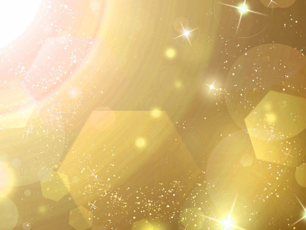 煌めくゴールドの輝き
