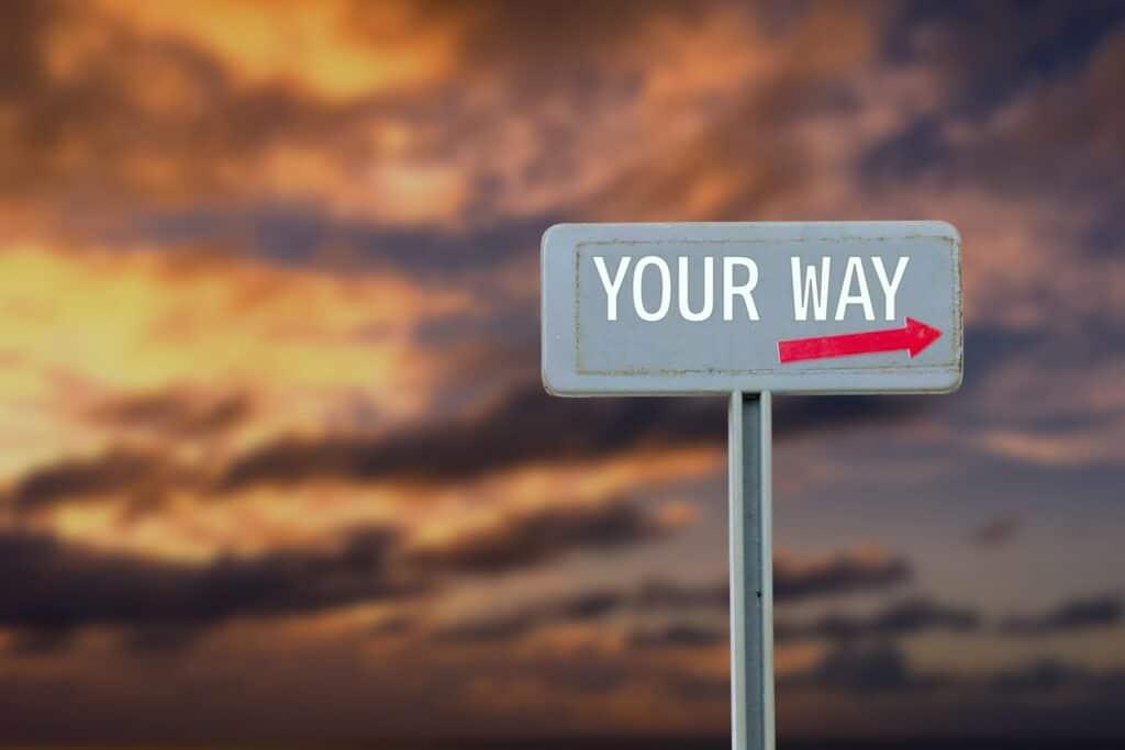 自分の道を進む